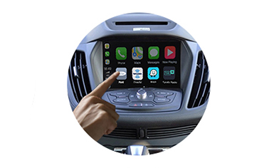 Wireless CarPlay AndroidAuto Smart Module for Ford Kuga Edge Taurus Mondeo SYNC 2.0 host 14-16 models-control method-2